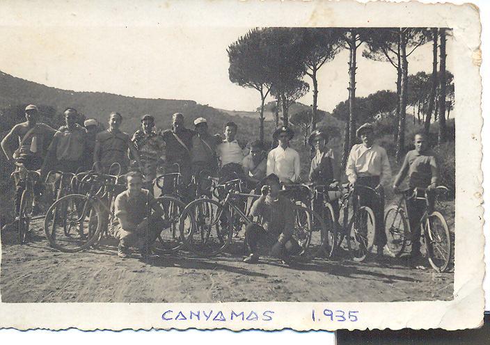 Sortida del S.C.Bétulo a Canyamars, any 1935